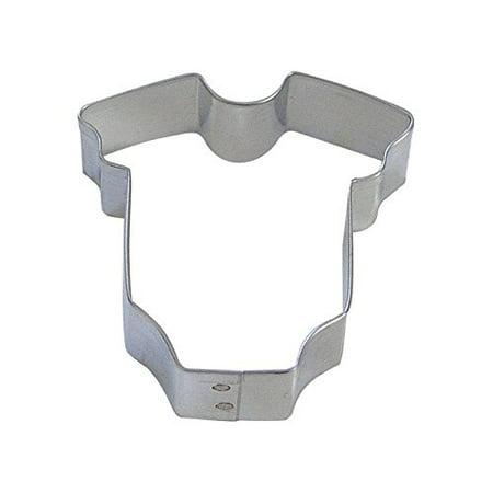 CybrTrayd R&M Onesie Tinplated Steel Cookie Cutter, Mini, Silver, Bulk Lot of 12