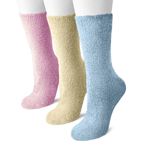 MUK LUKS Women's Crew Aloe Socks