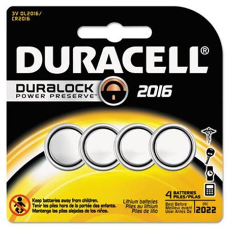 Duracell Button Cell Lithium Battery 2016 DURDL2016B4PK