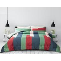Deals on Peach Leaf Super Soft 100-Percent Cotton 3-Pcs Comforter Set