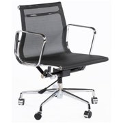 Control Brands FZC1055BLK The Mid-Century Mesh Executive Office Chair, Chrome, Black - 31.89-34.25 in.