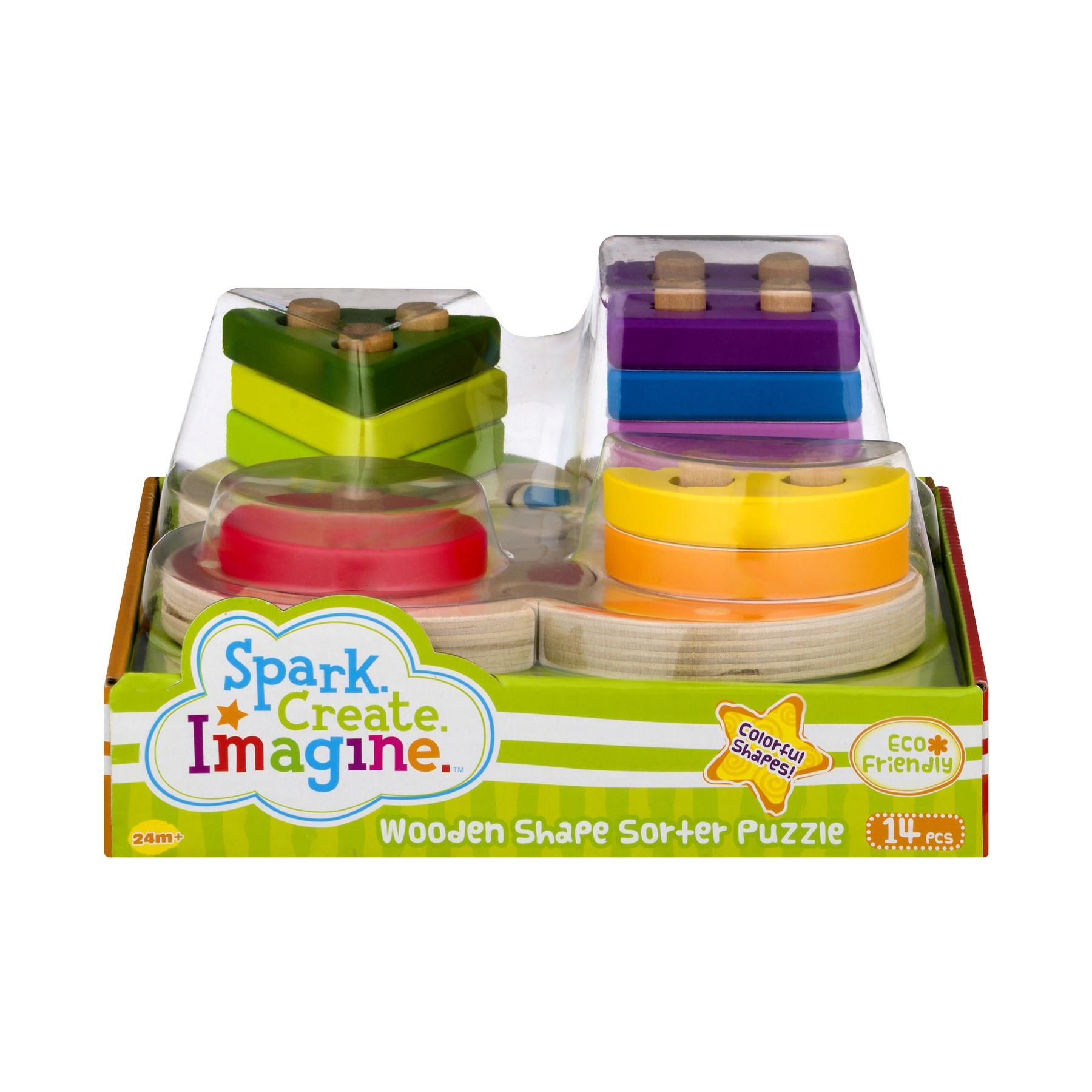 Spark Create Imagine Wooden Shape Sorter Puzzle, 14.0 PIECE(S)