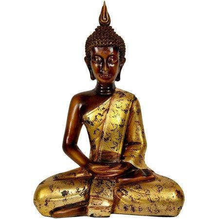 16.5 in. Tall Thai Sitting Buddha Statue