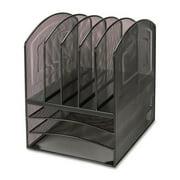 Lorell 8-compartment Steel Mesh Desktop Organizer, Black