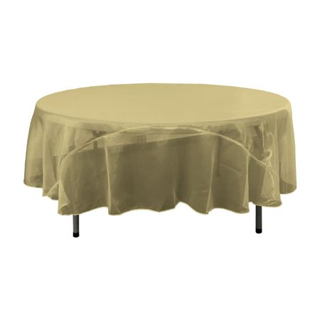 TCOrgz90R-OliveO21 Sheer Mirror Organza Round Tablecloth, Olive - 90 in.