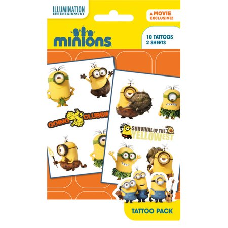 Minions / Despicable Me - 10 Piece Temporary Tattoo Pack