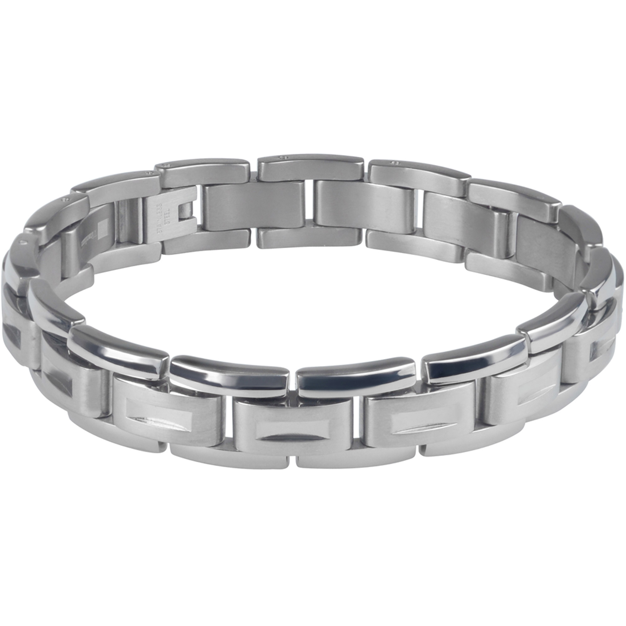 Daxx Men's Titanium Link Fashion Bracelet, 9""
