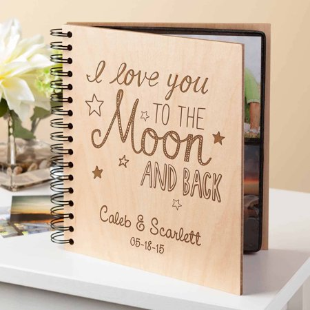 Personalized Photo Albums (Personalized To The Moon and Back Photo)