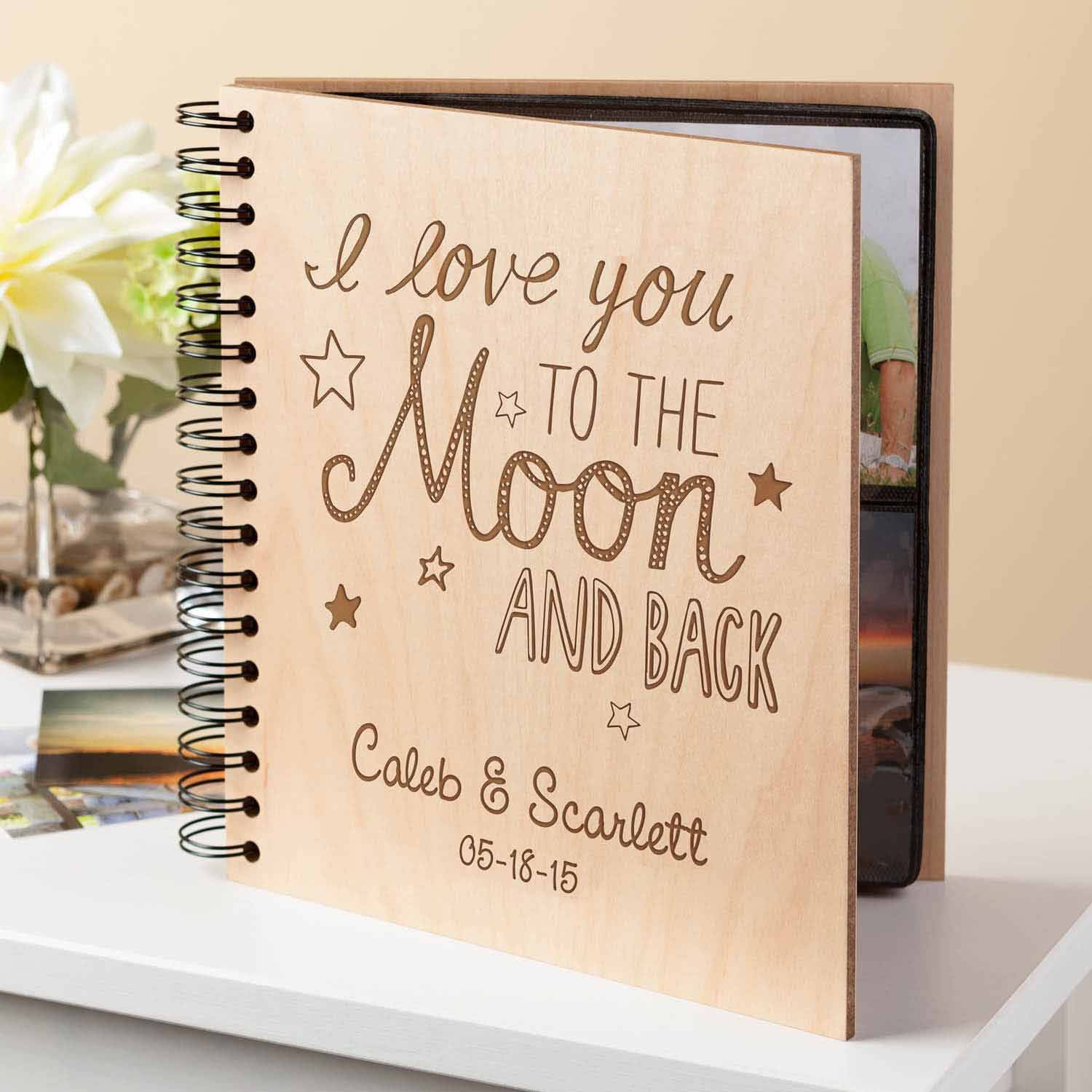 Personalized To The Moon and Back Photo Album