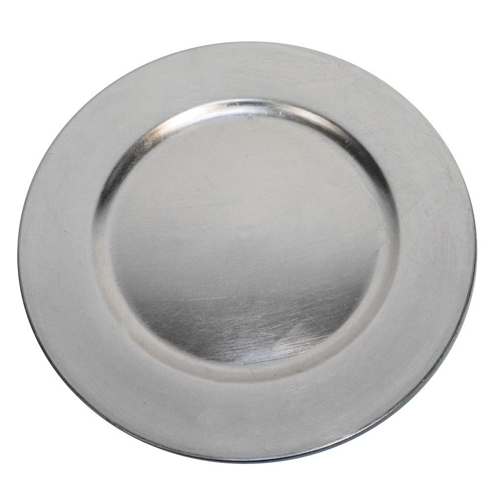 Luxurious Silver Round Charger Dinner Plates 13 inch Set of 124  sc 1 st  Walmart & Luxurious Silver Round Charger Dinner Plates 13 inch Set of 1246 ...