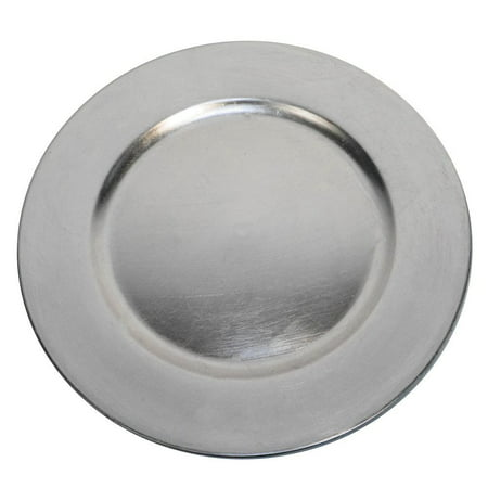 Luxurious Silver Round Charger Dinner Plates 13 inch Set of 1,2,4,6, or 12 - Up Your Dinner Game! (1)