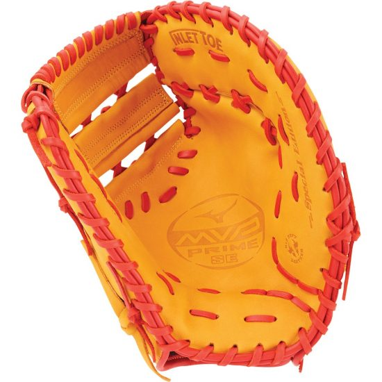 Mizuno MVP Prime SE GXF50PSE6 Baseball First Base Mitt RHT Cork Red by Mizuno