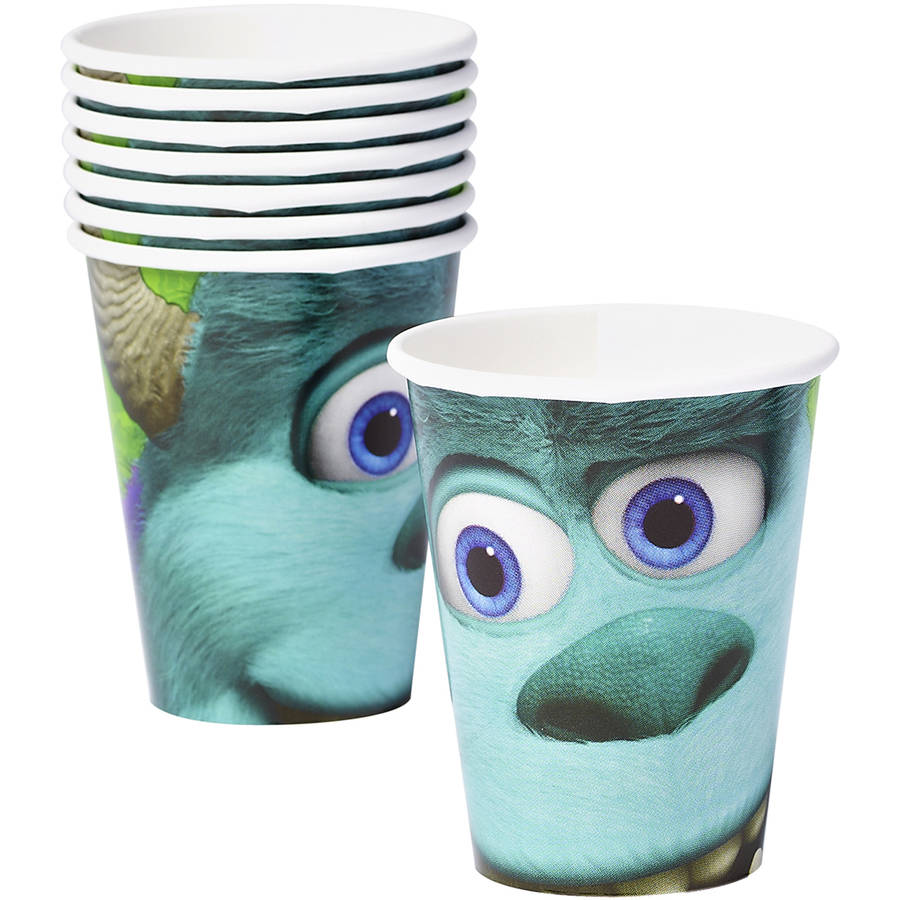 Monsters University 9 oz Paper Cups, 8-Count, Party Supplies