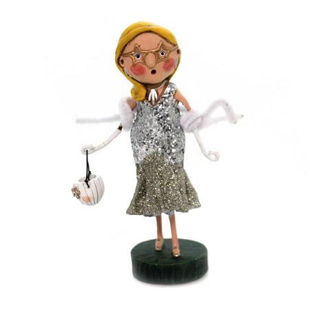 Lori Mitchell Halloween Figurines (Lori Mitchell SCARLETTE STARLET Polyresin Glitter Pumpkin Halloween)