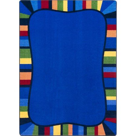 Rainbow Accents Cruiser Center - Joy Carpets 2017C-01 Colorful Accents Rectangle Area Area Rug, Rainbow - 5 ft. 4 in. x 7 ft. 8 in.