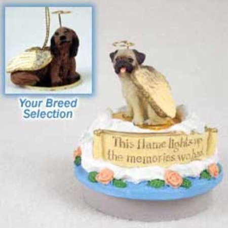 Dachshund Longhaired Red Candle Topper Tiny One Pet Angel Ornament