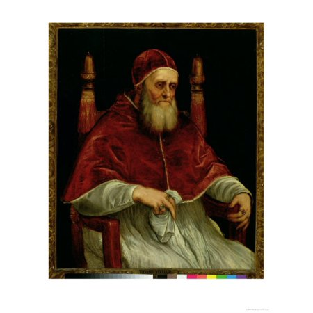 Pope Julius II Print Wall Art By Titian (Tiziano Vecelli)