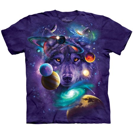The Mountain Men's  Wolf Of The Cosmos T-shirt Purple ()