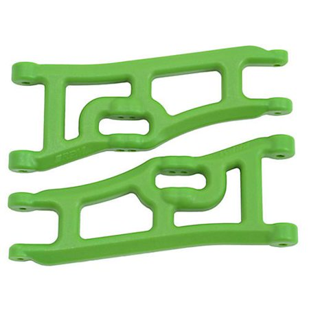 Wide Front A-arms, Green; Traxxas Rustler Stampede