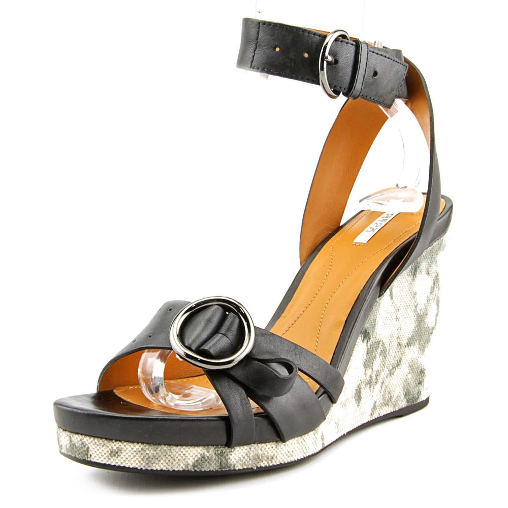 Geox Victory C   Open Toe Leather  Wedge Heel