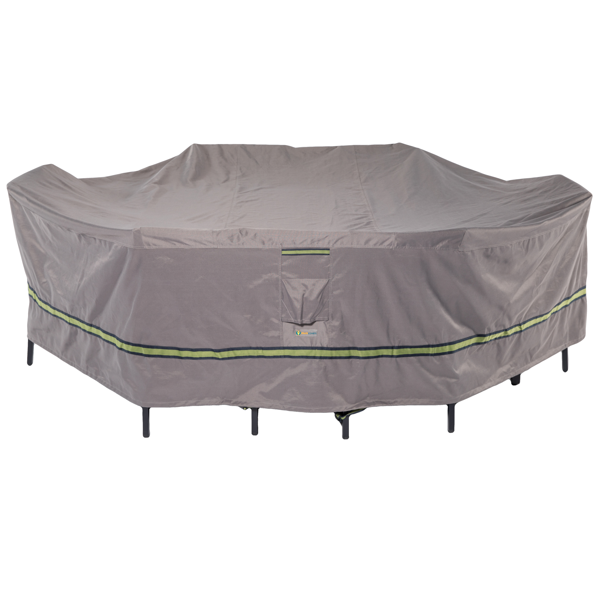 Duck Covers Soteria RainProof 96 in. L Rectangular/Oval Patio Table with Chairs Cover