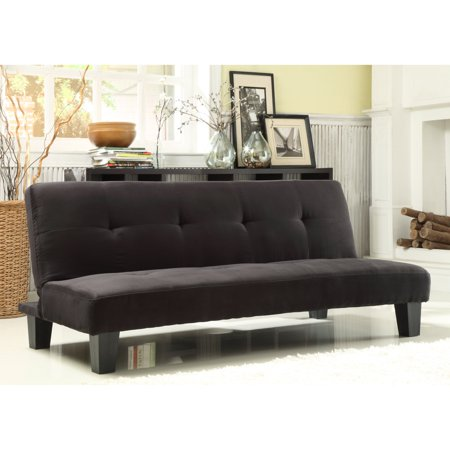 Chelsea Lane Tufted Mini Sofa Bed Lounger Black