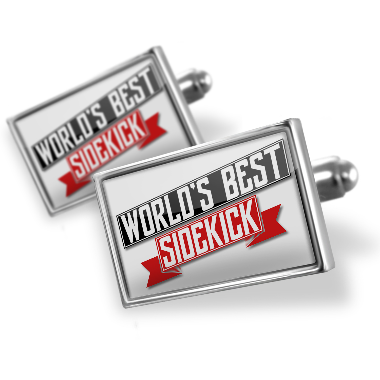 Cufflinks Worlds Best Sidekick - NEONBLOND
