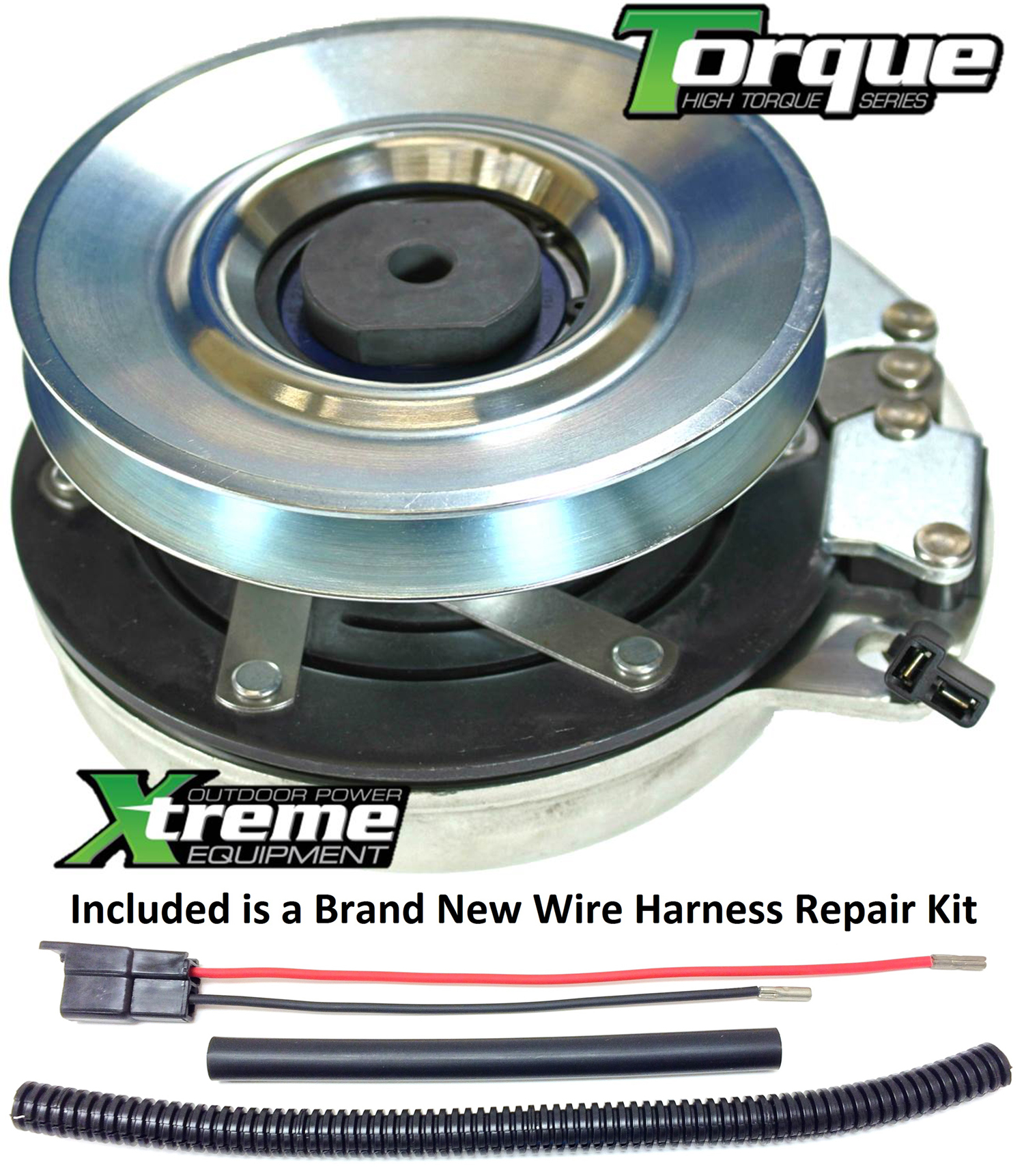 Bundle 2 Items Pto Electric Blade Clutch Wire Harness Repair Kit Replaces Dixon 574607001 Upgraded Bearings