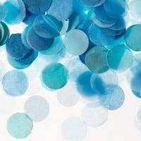 Darice Light Blue Tissue Paper Confetti Tube, 0.625in, 0.9oz