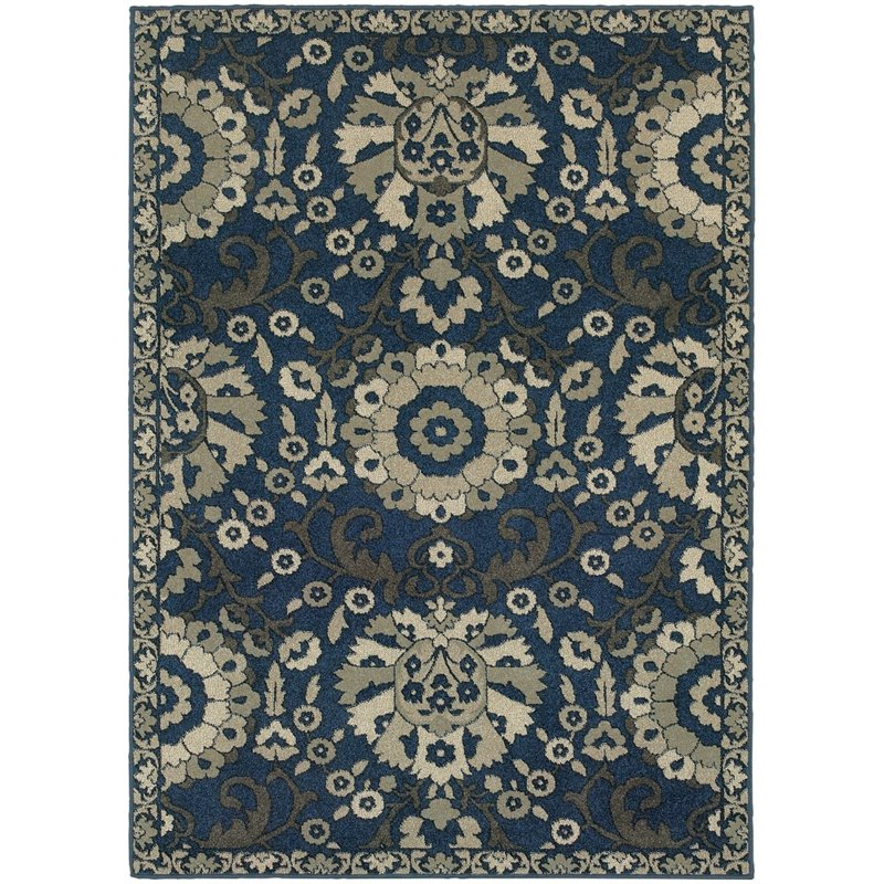 "Oriental Weavers Highlands 9'10"" x 12'10"" Machine Woven Rug"