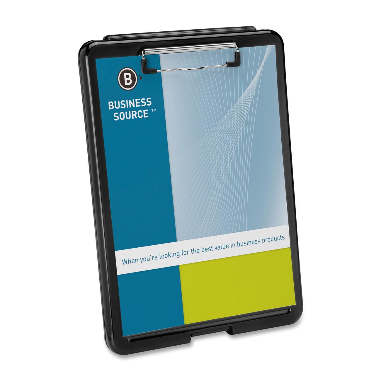 Business Source Storage Clipboard Plastic Black Bsn37513