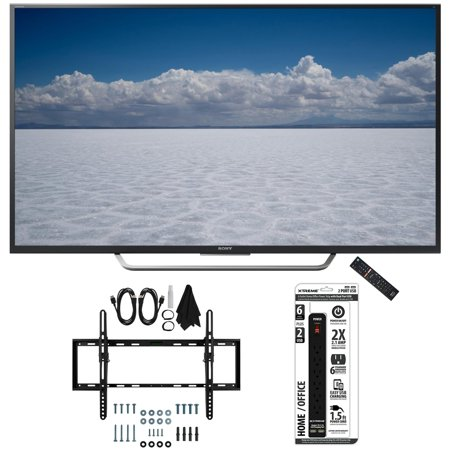 Sony XBR-55X700D – 55″ Class 4K Ultra HD TV with Tilt Wall Mount Bundle includes TV, Flat & Tilt Wall Mount Ultimate Kit and 6 Outlet Power Strip with Dual USB Ports