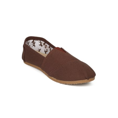 Custom Made Designer Shoes - Women Canvas Designer Slip On Extra Padding Flats - 18111
