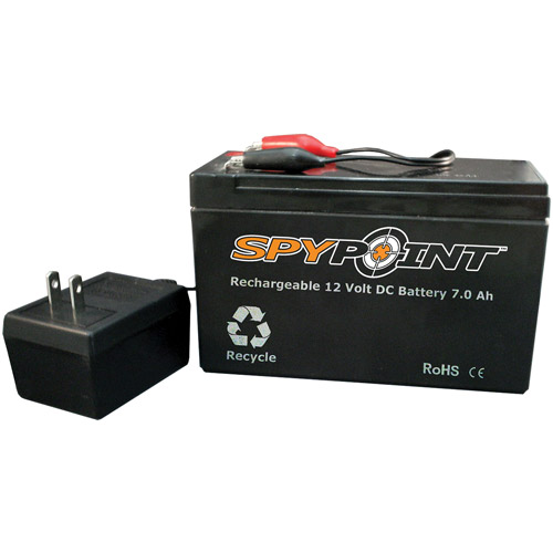 Spypoint 12V 7.0 AH Rechargeable Battery with AC Charger