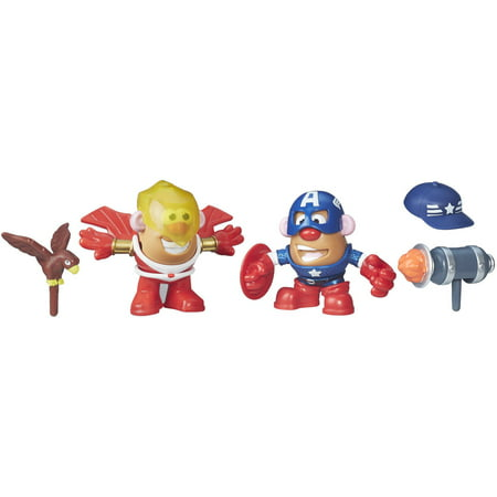 Playskool Friends Mr. Potato Head Marvel Captain America and Marvel's Falcon (Mr Potato Head Large)