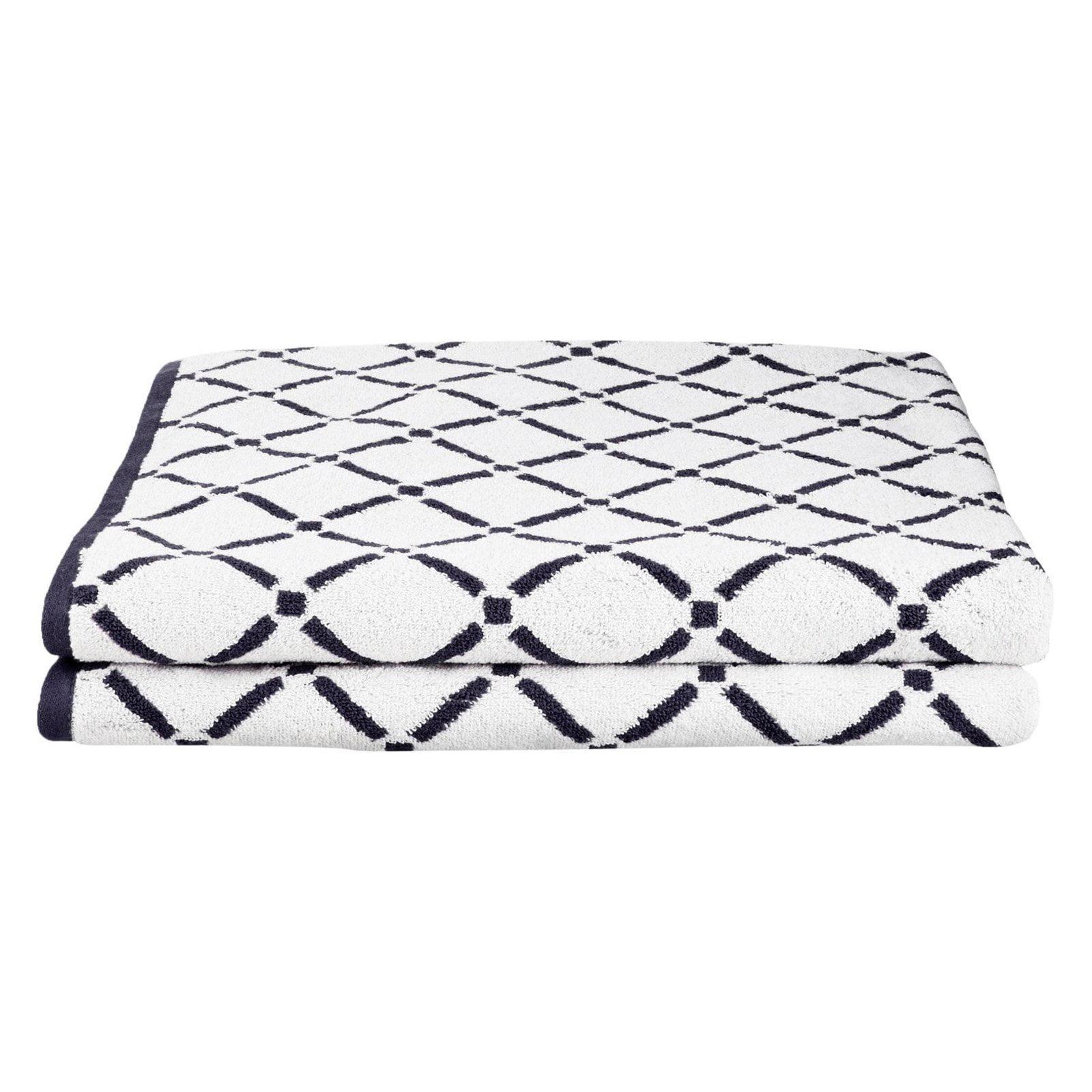 Superior Cotton Diamond Pattern 2-Piece Bath Towel Set by Blue Nile Mills