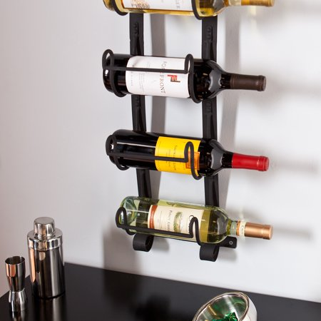simple diy hanging plank wood rack single made a mount wall of wine