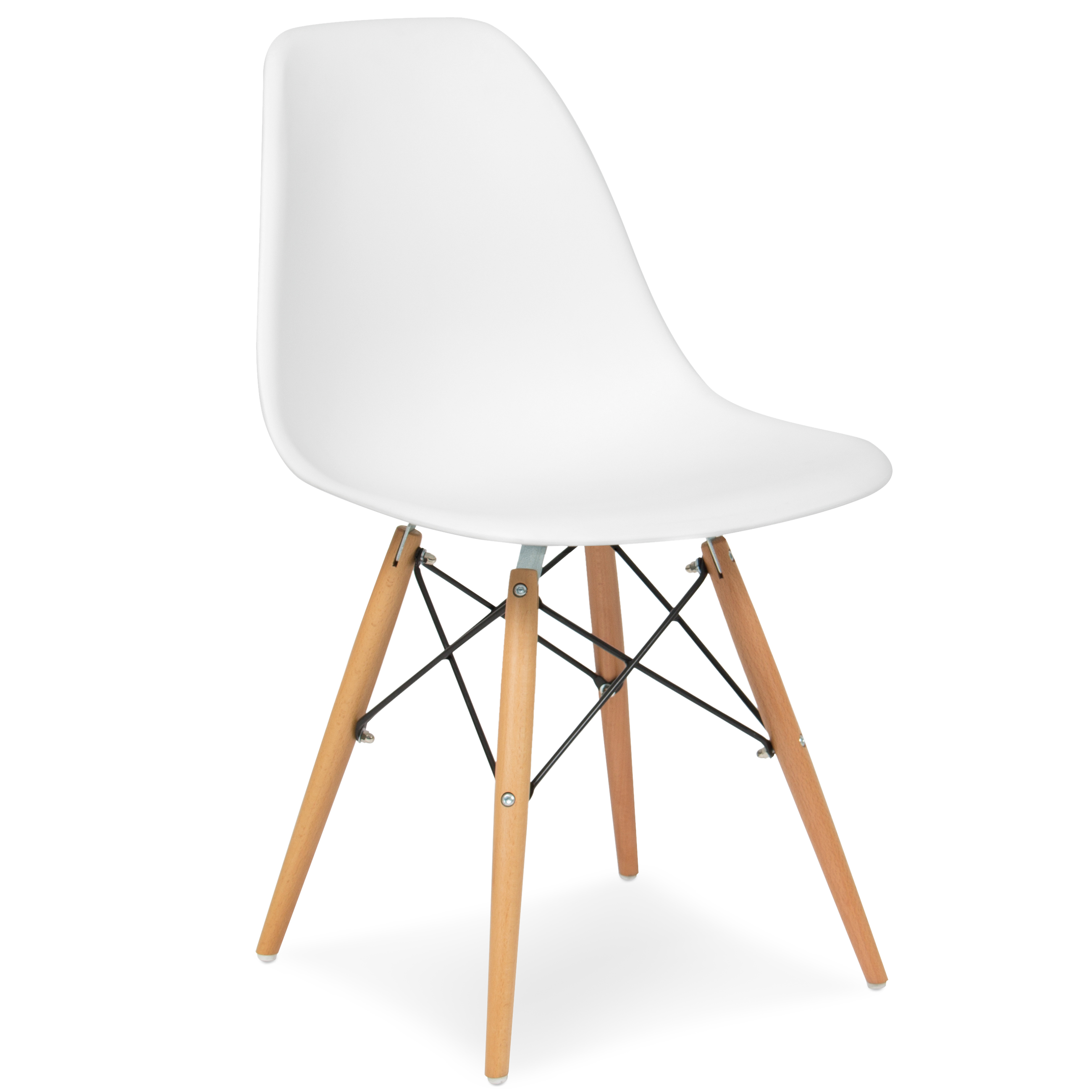 Best Choice Products Set of 2 Eames Style Dining Chair Mid Century