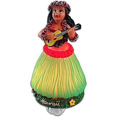"Hawaii Hula Girl With Ukulele Night Light 5.25"" X 3.25"""