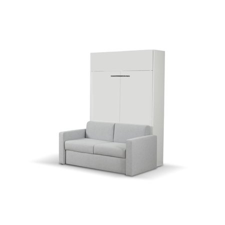 Amazing Aladino European Queen Size Wall Bed With Sofa White White Gloss Pabps2019 Chair Design Images Pabps2019Com