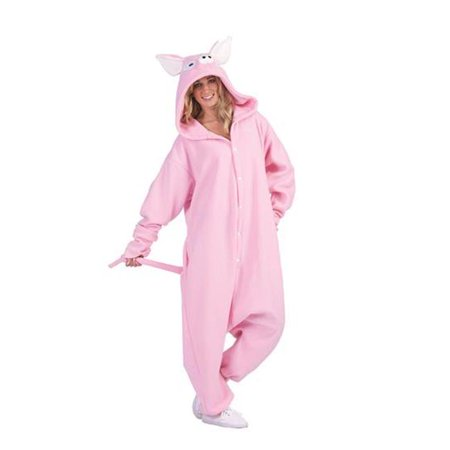 RG Costumes 40018 Penelope Pig Adult Funsies Costume Dress - Pink