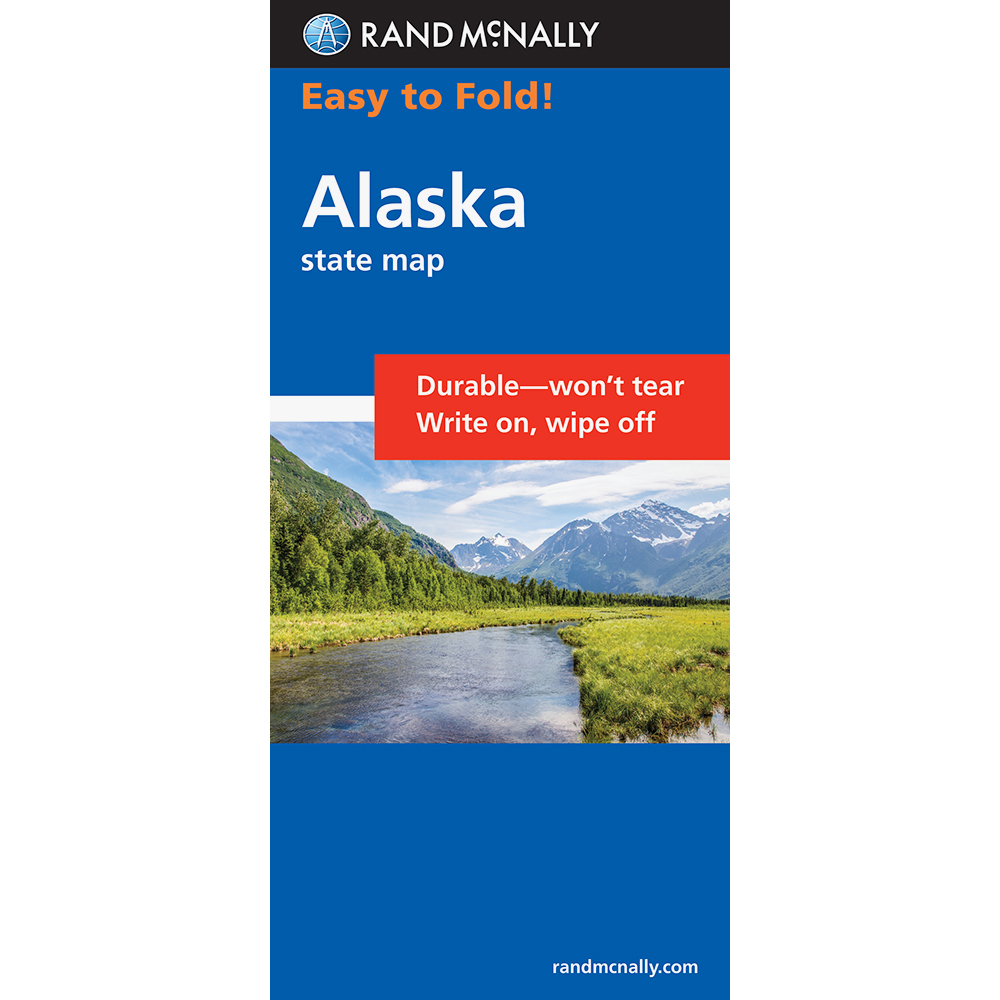 Rand Mcnally Easy Finder Map Alaska,ak