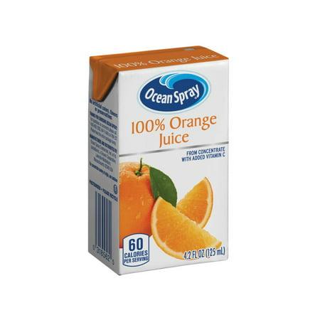 Ocean Spray 100% Orange Juice Drink, 4.23 Fl Oz drink boxes, 40 Count