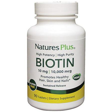 Natures Plus. Biotin 10 mg. 90 Tabs (3 pack).  Allergen