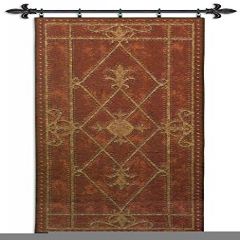 FineArtTapestries 3676-WH Edinburgh Scroll WH-Includes 2 Rod11A Wall Tapestry by Supplier Generic