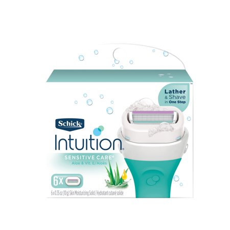 Schick Intuition Sensitive Care Women's Razor Blade Refills, 6 Ct Schick Intuition Plus Refills