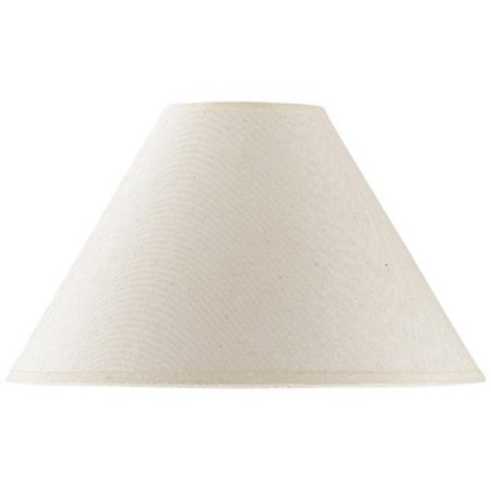 Cal Lighting Round Hardback Lamp Shade - Cream