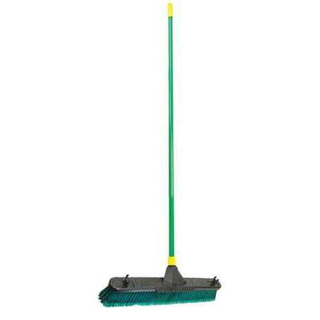 "QUICKIE 638 Push Broom,60"" Handle L,24"" Broom W"