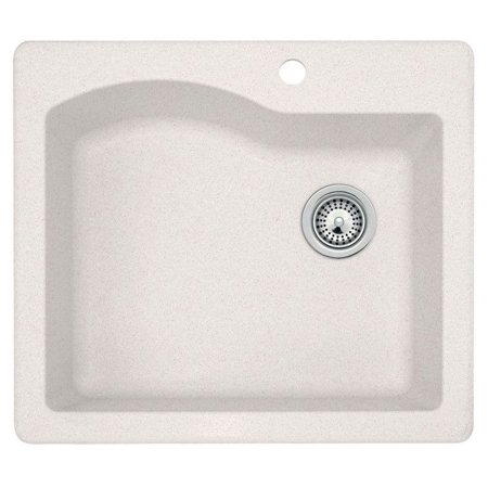 Granite Single Bowl Kitchen Sink Dual mount granite 25x22x9 in 1 hole single bowl kitchen sink in dual mount granite 25x22x9 in 1 hole single bowl kitchen sink in bianca workwithnaturefo