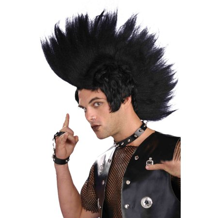 Extreme Punk Rock 80's Adult Costume Wig (Extreme Contouring Halloween)